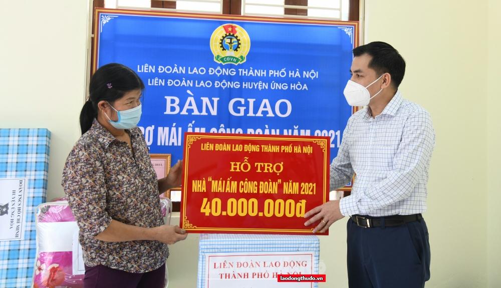 """""""Mái ấm Công đoàn"""" giúp cô giáo Bùi Thị Hoa thoát cảnh ngập, lụt"""