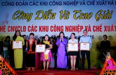 Trao giải  liên hoan văn nghệ trong CNVCLĐ năm 2016