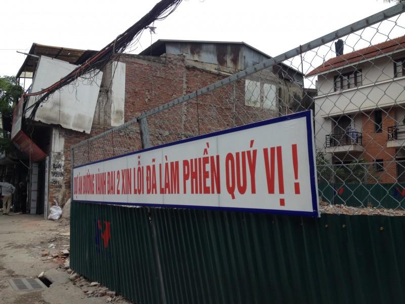 Hà Nội chủ trương tách tiểu dự án giải phóng mặt bằng