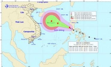 Hôm nay (10/11): Bão Haikui sẽ vào biển Đông