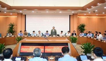 Các đoàn công tác của Ban chỉ đạo Trung ương làm việc với Thành ủy Hà Nội