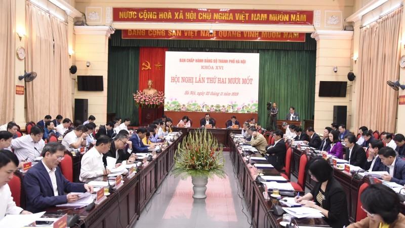Hội nghị lần thứ 21 Ban Chấp hành Đảng bộ thành phố Hà Nội khóa XVI