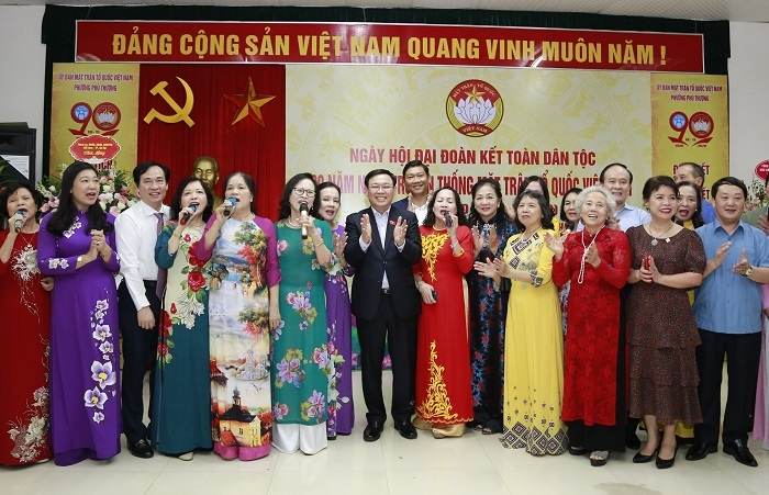 Bí thư Thành ủy Vương Đình Huệ dự Ngày hội Đại đoàn kết toàn dân tộc tại phường Phú Thượng