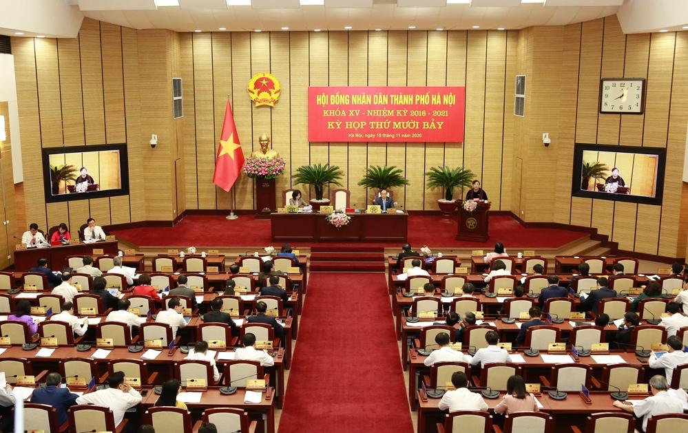 Khai mạc Kỳ họp thứ 17 Hội đồng nhân dân thành phố Hà Nội khóa XV