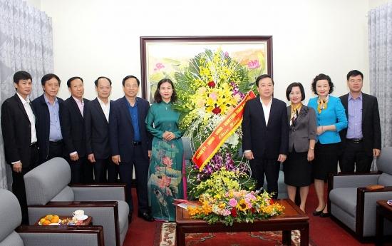 Phó Bí thư Thường trực Thành ủy Nguyễn Thị Tuyến chúc mừng Sở Giáo dục và Đào tạo Hà Nội