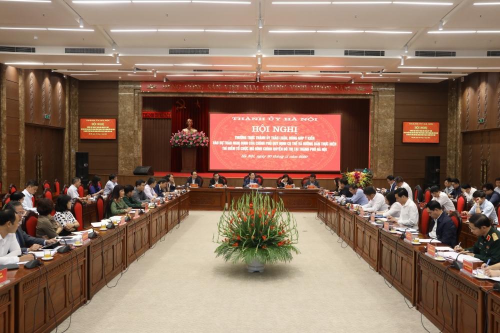 Hà Nội thảo luận việc thực hiện thí điểm tổ chức mô hình chính quyền đô thị