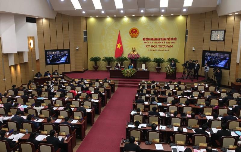 Khai mạc Kỳ họp thứ 5 HĐND TP Hà Nội khoá XV