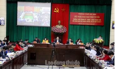 Hà Nội: Giao ban trực tuyến công tác quý IV/2017