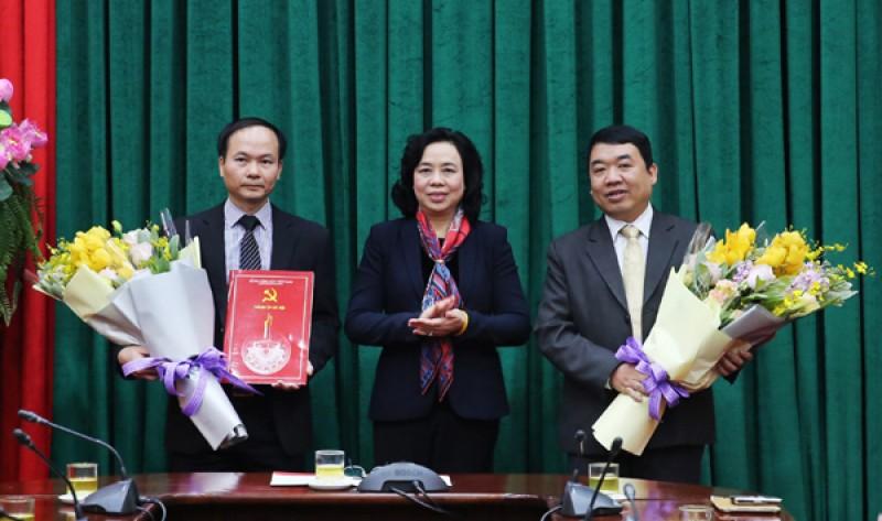 Hà Nội: Công bố Quyết định bổ nhiệm lãnh đạo 2 ban của Thành ủy