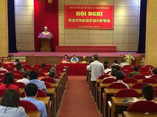 Đoàn đại biểu Quốc hội tiếp xúc cử tri huyện Sóc Sơn