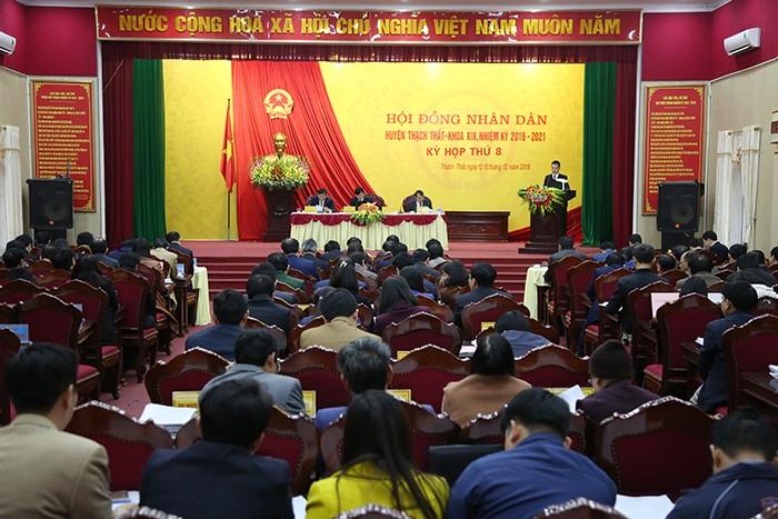 Hội đồng nhân dân huyện Thạch Thất khai mạc kỳ họp thứ tám