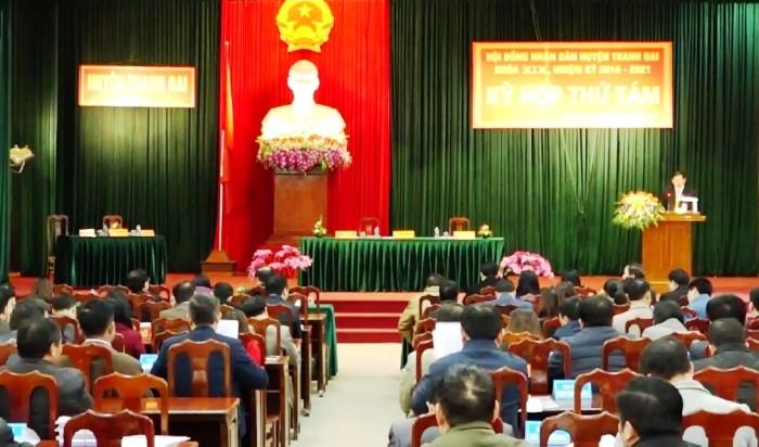 Thu ngân sách năm 2018 của huyện Thanh Oai đạt 189%