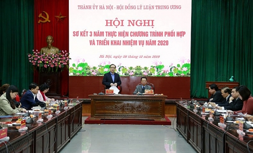 Hà Nội đề nghị Hội đồng Lý luận Trung ương giúp đỡ xây dựng giáo trình đào tạo cán bộ