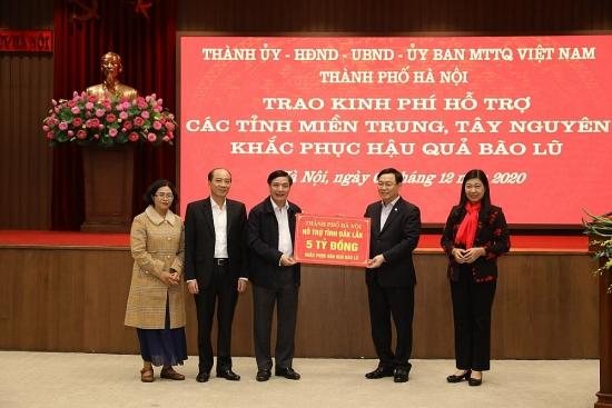 Hà Nội hỗ trợ miền Trung, Tây Nguyên 91 tỷ đồng khắc phục hậu quả bão lũ