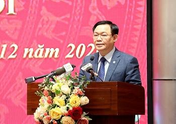 Bí thư Thành ủy Hà Nội: Mục tiêu thu ngân sách năm 2021 tối thiểu phải bằng năm 2020