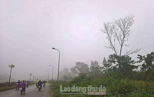 Thời tiết ảnh hưởng đến chất lượng không khí Hà Nội