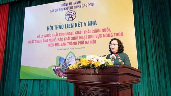 Hội thảo liên kết 4 nhà bàn giải pháp về xử lý môi trường khu vực nông thôn