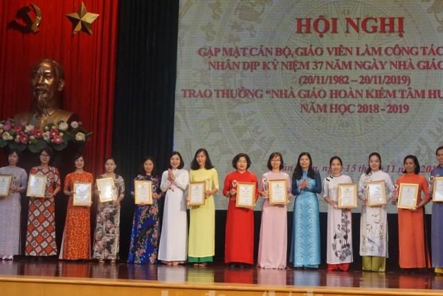 """Trao thưởng """"Nhà giáo Hoàn Kiếm tâm huyết sáng tạo"""" năm học 2018 – 2019"""