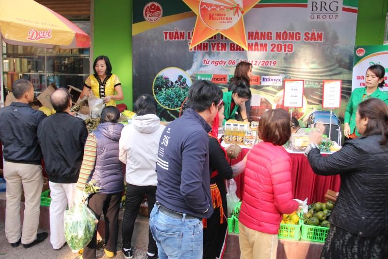Nông sản Yên Bái lên kệ Hapromart và Intimex Hà Nội