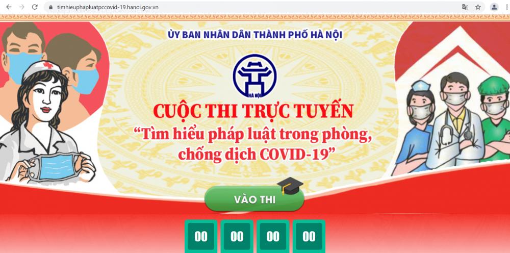 Hà Nội: Hơn 1 triệu người dân tham gia thi tìm hiểu pháp luật về phòng, chống Covid-19