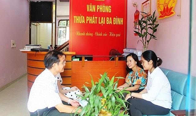 Hà Nội phát triển Văn phòng Thừa phát lại phù hợp với địa bàn dân cư