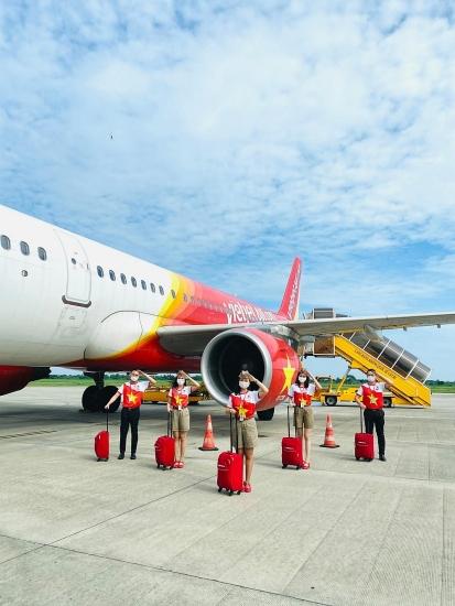 Khôi phục các đường bay từ 21/10, Vietjet mở bán vé cùng nhiều khuyến mãi,  tặng phí xét nghiệm Covid-19