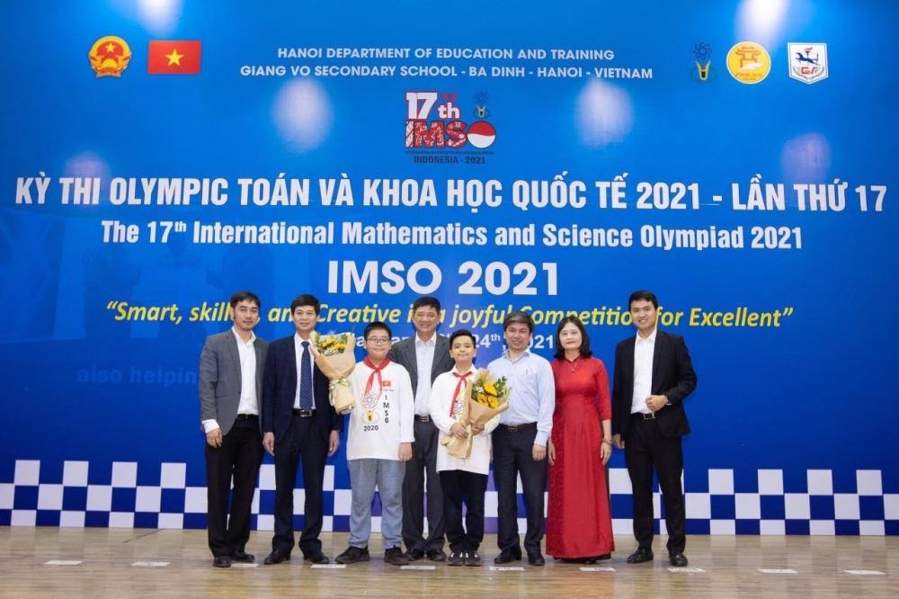 Học sinh Hà Nội giành 20 huy chương tại kỳ thi Olympic Toán và Khoa học quốc tế