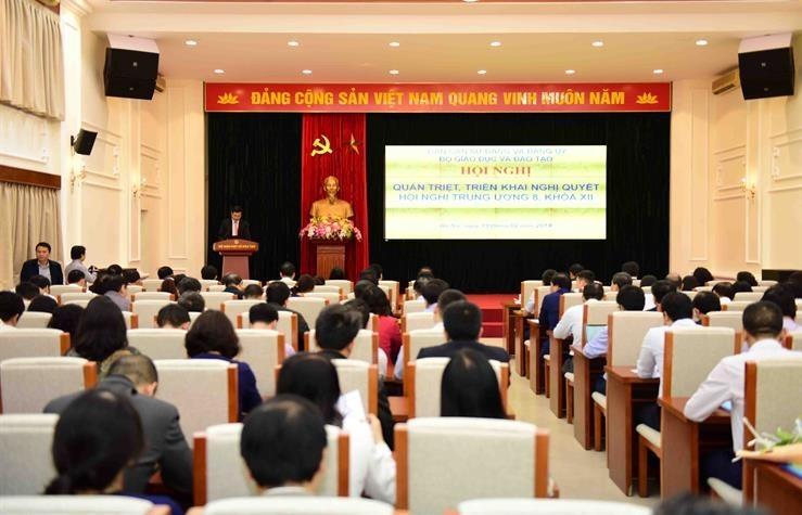 Bộ GD&ĐT quán triệt Nghị quyết Hội nghị Trung ương 8, Khóa XII