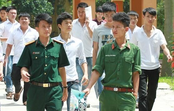 Phương án tuyển sinh vào các trường khối quân đội năm 2019