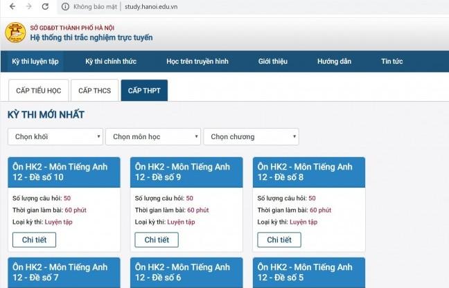 Hà Nội: Triển khai hệ thống học tập trực tuyến cho học sinh khối 11, 12
