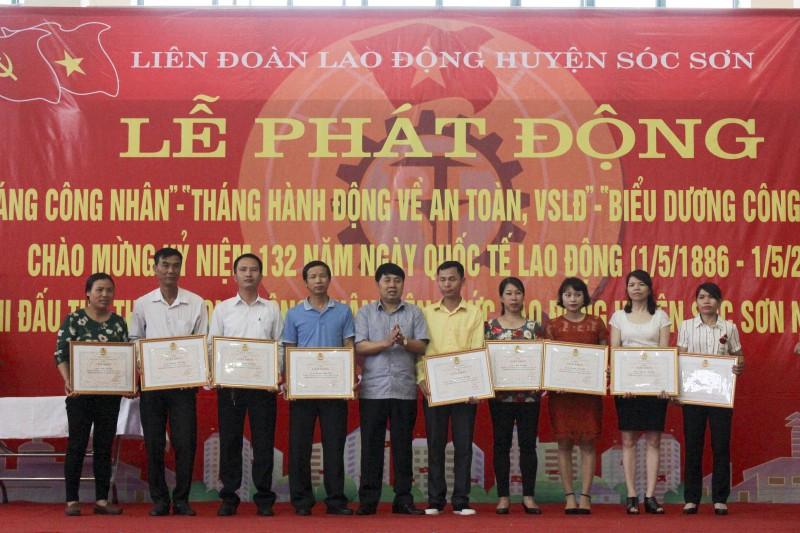 LĐLĐ huyện Sóc Sơn phát động Tháng Công nhân 2018