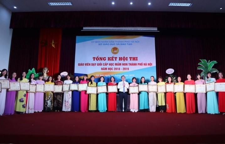 Trường Mầm non Hà Trì đoạt giải Nhất Hội thi giáo viên giỏi cấp Thành phố