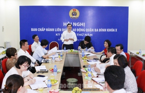 LĐLĐ quận Ba Đình: 100% đơn vị tổ chức Hội nghị cán bộ, công chức, viên chức
