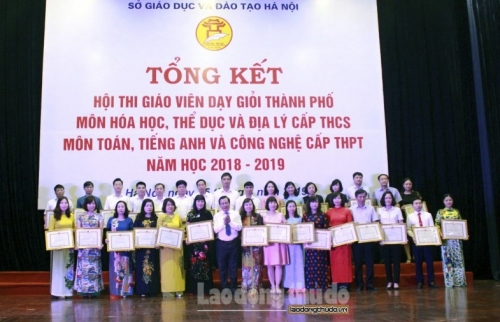 Hà Nội: Tổng kết Hội thi giáo viên dạy giỏi cấp thành phố