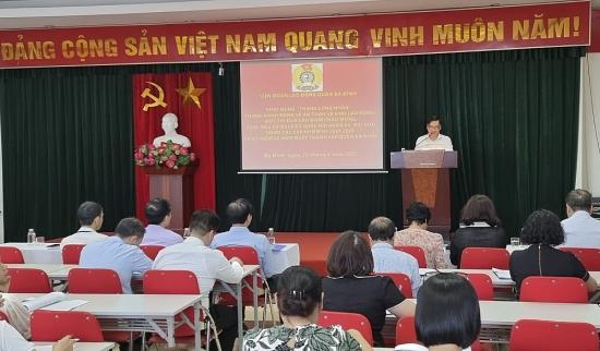 Liên đoàn Lao động quận Ba Đình phát động Tháng Công nhân năm 2021