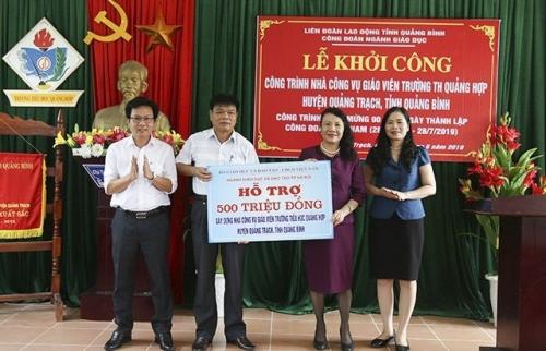 Hỗ trợ xây dựng nhà công vụ trường Tiểu học Quảng Hợp