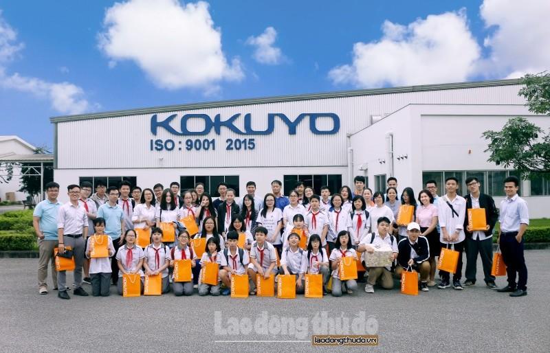 Học sinh Ban Mai trải nghiệm thực tế tại Nhà máy Kokuyo, Hải Phòng
