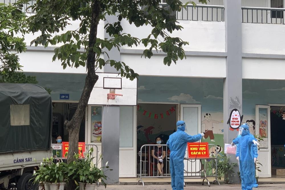 Diễn tập phương án phòng, chống dịch Covid-19 trong ngày bầu cử