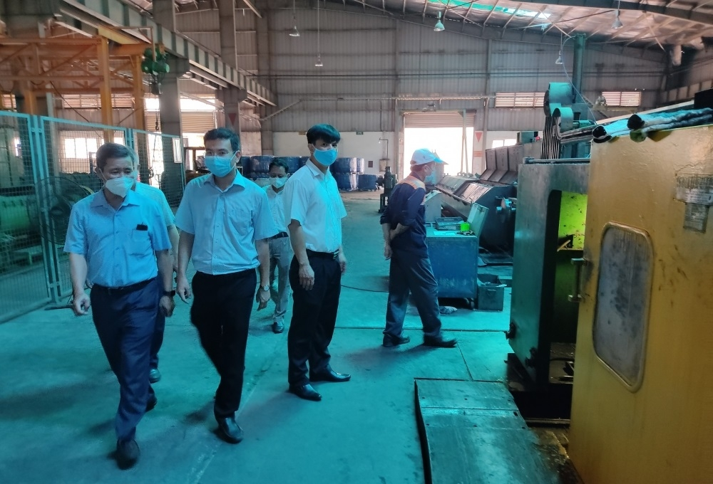 Gia Lâm kiểm tra công tác phòng, chống Covid-19 tại các doanh nghiệp trên địa bàn