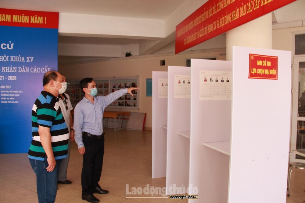 Đảm bảo an toàn phòng, chống dịch Covid-19 tại các khu vực bỏ phiếu