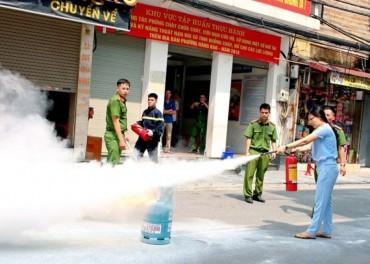 Tổ chức tập huấn nghiệp vụ phòng cháy, chữa cháy
