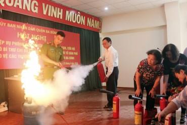 Tăng cường tập huấn kiến thức phòng cháy, chữa cháy