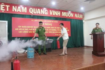 Đẩy mạnh phổ biến pháp luật và tập huấn kiến thức phòng cháy, chữa cháy