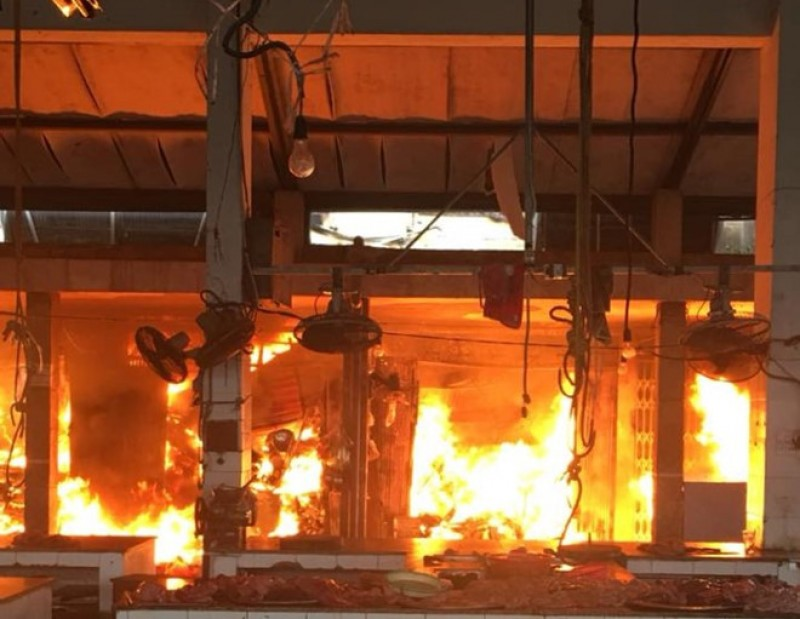 Cháy lớn gây thiệt hại nhiều tài sản ở Sóc Sơn