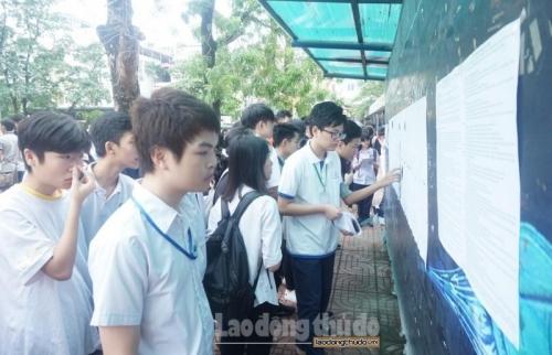 Hà Nội công bố điểm chuẩn vào lớp 10 THPT công lập năm học 2019 - 2020
