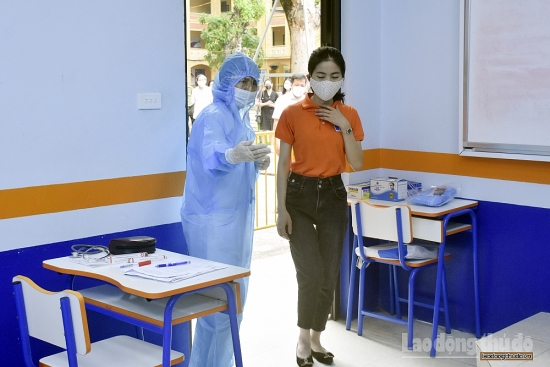 Toàn Thành phố diễn tập phòng, chống dịch Covid-19 cho kỳ thi tuyển sinh vào lớp 10