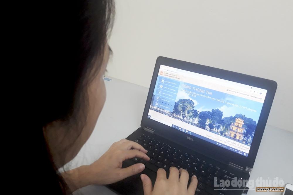 Thử nghiệm đăng ký tuyển sinh trực tuyến vào các lớp đầu cấp