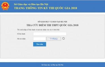 Chính thức công bố điểm thi THPT quốc gia 2018