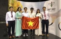 Đoàn học sinh Việt Nam đạt thành tích cao tại Olympic Sinh học quốc tế năm 2019