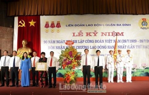 LĐLĐ quận Ba Đình vinh dự đón nhận Huân chương Lao động hạng Nhất (lần thứ hai)